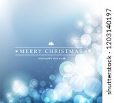 colorful happy holidays  merry... | Shutterstock .eps vector #1203140197