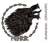 Wolf Fenrir. Illustration To...