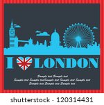 london card design. vector... | Shutterstock .eps vector #120314431