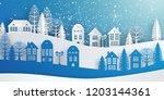 winter snow urban countryside... | Shutterstock .eps vector #1203144361