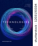 quantum computing background.... | Shutterstock .eps vector #1203150334