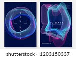 quantum computing background.... | Shutterstock .eps vector #1203150337