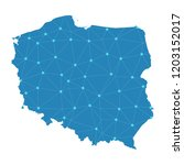 map of poland from polygonal...   Shutterstock .eps vector #1203152017