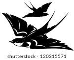 flying swallow bird vector... | Shutterstock .eps vector #120315571