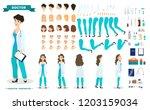 female doctor character set for ...   Shutterstock .eps vector #1203159034