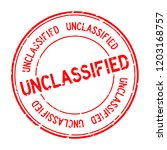 Grunge red unclassified word round rubber seal stamp on white background