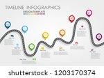navigation roadmap infographic...   Shutterstock .eps vector #1203170374