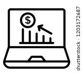 graph with dollar sign and... | Shutterstock .eps vector #1203172687