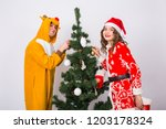 fun  holidays and christmas... | Shutterstock . vector #1203178324