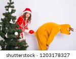 holiday  christmas and joke... | Shutterstock . vector #1203178327