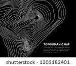 contour map. cartography line... | Shutterstock .eps vector #1203182401