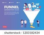 funnel sale generation. digital ... | Shutterstock .eps vector #1203182434