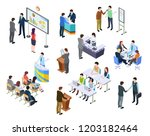 isometric meeting. business... | Shutterstock .eps vector #1203182464