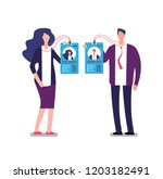 showing badge. security access... | Shutterstock .eps vector #1203182491