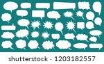 set of speech bubbles. blank... | Shutterstock .eps vector #1203182557