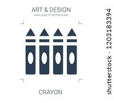 crayon icon. high quality... | Shutterstock .eps vector #1203183394