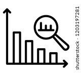 graph with a magnifying glass... | Shutterstock .eps vector #1203197281