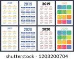 calendar 2019  2020 years.... | Shutterstock .eps vector #1203200704