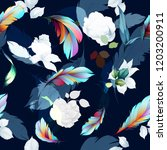 seamless floral background... | Shutterstock .eps vector #1203200911