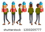 vector illustration of walking... | Shutterstock .eps vector #1203205777
