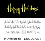 happy holidays. hand drawn... | Shutterstock .eps vector #1203207337