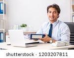 young handsome businessman...   Shutterstock . vector #1203207811