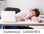young handsome businessman...   Shutterstock . vector #1203207871