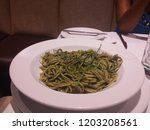 a green looking dish of... | Shutterstock . vector #1203208561