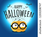 happy halloween vector... | Shutterstock .eps vector #1203208747