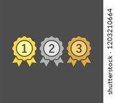 award  medal  winner  victory... | Shutterstock .eps vector #1203210664