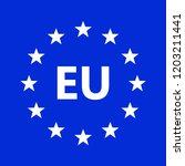 european union logo. vector... | Shutterstock .eps vector #1203211441