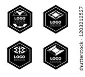 vector logo design elements set ... | Shutterstock .eps vector #1203212527