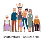 happy family portrait. father ... | Shutterstock .eps vector #1203216781