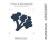 broccoli icon. high quality... | Shutterstock .eps vector #1203222007