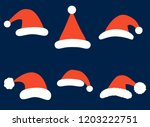christmas vector set with... | Shutterstock .eps vector #1203222751
