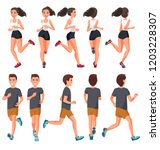 vector illustration of running... | Shutterstock .eps vector #1203228307
