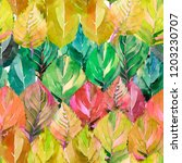 lovely group of the autumn...   Shutterstock . vector #1203230707