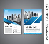 brochure template layout  cover ... | Shutterstock .eps vector #1203231751