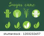 sugar cane silhouettes icons.... | Shutterstock . vector #1203232657