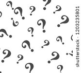 question mark pattern. question ... | Shutterstock . vector #1203235801