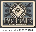 car repair service vintage... | Shutterstock .eps vector #1203235984