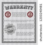grey retro warranty certificate ... | Shutterstock .eps vector #1203240481