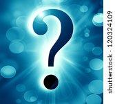 question mark on a soft dark... | Shutterstock . vector #120324109