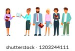 recruitment process concept... | Shutterstock .eps vector #1203244111