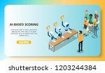 ai based baloan scoring concept.... | Shutterstock .eps vector #1203244384