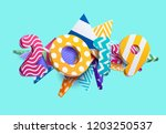 new year 2019. colorful design. | Shutterstock .eps vector #1203250537