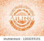 ailing abstract emblem  orange...   Shutterstock .eps vector #1203255151