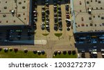 aerial view. parking lot viewed ... | Shutterstock . vector #1203272737