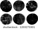 grunge post stamps collection  .... | Shutterstock .eps vector #1203273301