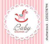 baby shower invitation card... | Shutterstock .eps vector #1203278794